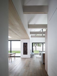 Timber Ceiling, Timber Flooring, Ceiling Beams, Interior Architecture, Interior And Exterior, Monochrome Interior, Modern Interior, Global Home, Minimal Home