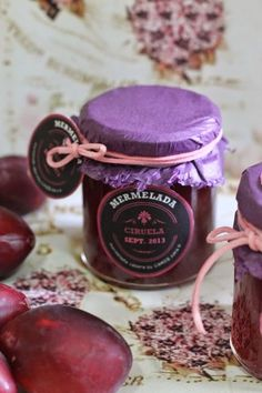 MERMELADA DE CIRUELA Candle Packaging, Food Packaging, Salsa Dulce, Jam And Jelly, Sweet Recipes, Bakery, Food And Drink, Cooking Recipes, Sweets