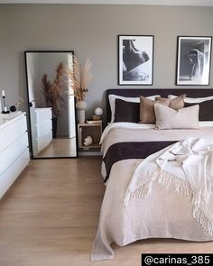 20 tips will help you improve the environment in your bedroom So cozy! decoration salon decoration interieur maison 20 tips will help you improve the environment in your bedroom So cozy! Room Ideas Bedroom, Bedroom Inspo, Home Decor Bedroom, Living Room Decor, Nordic Bedroom, Bedroom Modern, Master Bedrooms, Modern Room, Modern Living