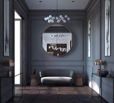 Luxury Homes - Interior Design - Home Furnishings Hotel Bedroom Design, Luxury Interior Design, Interior And Exterior, Design Hotel, Neoclassical Interior Design, Home Interior, Modern Classic Interior, Hotel Decor, Dark Interiors