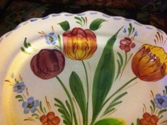 Vintage Blue Ridge?   Platter Large Excellent! #Blueridge