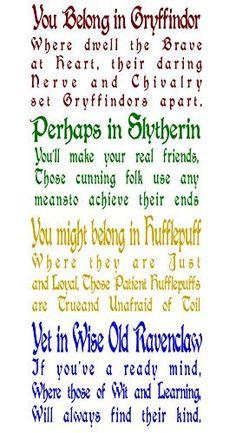 Hogwarts Houses viny