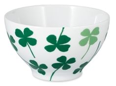 Lucky Clover Porcelain Cereal Bowls designed by Elisabeth Dunker for the House of Rym A/W Collection