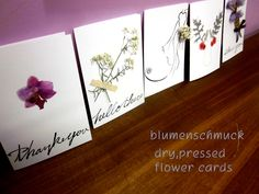 pressed,dry flower cards