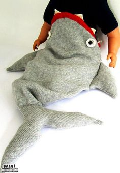 This would be a cute DIY.  Add a dorsal fin to make it a shark.