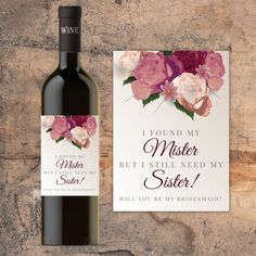 Wedding Gift Wine Labels Thank You Gift Engagement Gift