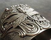 Art Nouveau Jewelry Silver Dragonfly Bracelet #EasyNip