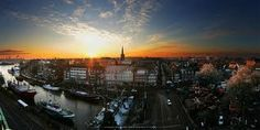 Sundown over Emden, Germany