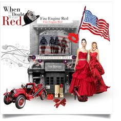 Fire Engine Red a New Fashion Trend, created by marie-guzik-mcauley on Polyvore