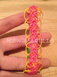 This is a Diamond with Rings Pattern Rainbow Loom by Rowancat119
