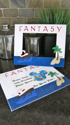 The Photo Mat that I made for my Fish Extender for a recent Disney Fantasy Cruise.