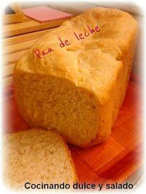 Cocinando dulce y salado: Pan de leche en panificadora