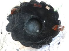Vintage Bes Ben Black Leaf Hat with Perfect by FrouFrou4YouYou