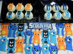 Slugterra cookies and Cupcakes