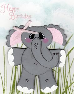 Elephant card...made all with punches