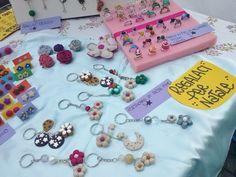 Anvià portachiavi, anelli, orecchini.. fiori, pan di stelle, bucaneve artigianato creativo