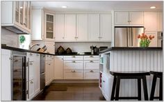 black and white country kitchen - Google Search