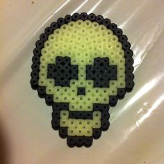 Skull halloween hama perler beads by creative_girl_dk