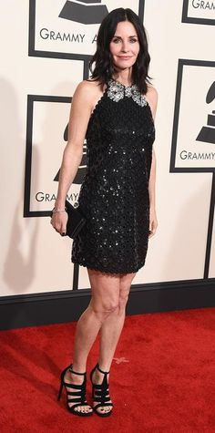 Grammys 2015 Red Carpet Arrivals - Courtney Cox in Marc Jacobs Resort 2015 #InStyle