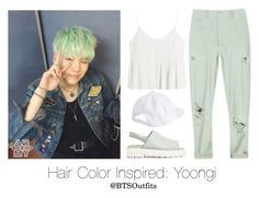 """Hair Color Inspired: Yoongi"" by btsoutfits ❤ liked on Polyvore featuring Rachel Comey and Wood Wood"