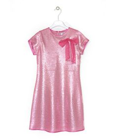 Take a look at this Pink Sequinned Short-Sleeve Net Dress - Girls by Lesy  on #zulily today!