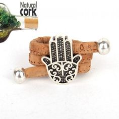 Cheap cork rings, Buy Quality wood ring jewelry directly from China ring jewelry Suppliers: Natural cork Antique sliver fatima hand vintage women cork Ring original adjustable handmade wooden vegan jewelry Hand Of Fatima, Turquoise, Handmade Wooden, Biodegradable Products, Plant Based, Vintage Ladies, Sunglasses Case, Jewelry Accessories, Vegan