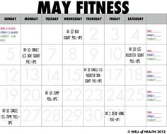 May Pull-Up Progression Calendar | Well of Health