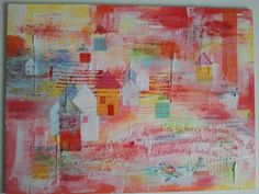 Morning bird - mixed media painting by Marianne Panneman