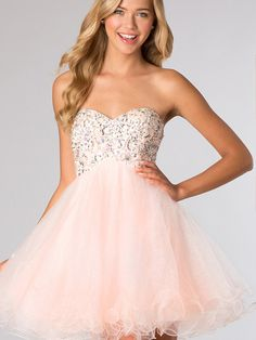 2014 Style A-line Sweetheart Rhinestone Homecoming Dresses/Cocktail Dresses #GC449
