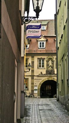 Wurzburg, Germany. I walked these very streets.  I spent most weekends in Wurzburg.