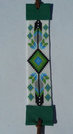 Native American made seed bead bracelet