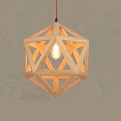 89.30$  Buy here - http://ali64p.worldwells.pw/go.php?t=32738960752 - Nordic Pendant Lights Creative Wood Lamps Bedroom Restaurant Wood Personality Minimalist Wooden Chandelier Pendant Lamp WPL161 89.30$
