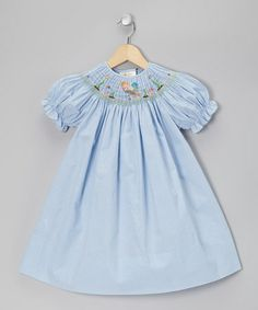 http://www.zulily.com/invite/vhanson979Take a look at this Blue Gingham Mermaid Bishop Dress - Infant, Toddler & Girls by Rosalina on #zulily today!