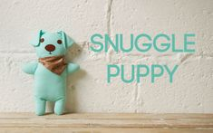 How to Make a Snuggle Puppy – step by step sewing project to make a cute Snuggle Puppy with our free pattern and video tutorial Diy Projects For Kids, Sewing Projects For Kids, Sewing For Kids, Free Sewing, Snuggle Bear, Snuggle Puppy, Snuggles, Felt Witch Hat, Halloween Sewing