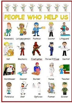 People who help us -display - poster laminated first learning childminder Eyfs Activities, Nursery Activities, Activities For Kids, Preschool Ideas, Preschool Learning, Learning Activities, British Values, People Who Help Us, Community Helpers Preschool