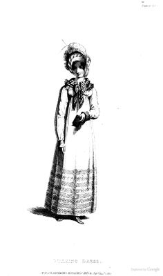Walking Dress from from Ackermann's Repository of the Arts August 1817