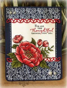 Stampin' Up! Birthday Bloom, Flourishing Phrases, Stamp 2 Create: Thoughtful!
