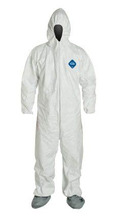 cool Tyvek Ty122S-Md Coveralls With Elastic Wrist/Ankle & Hood/Boot, Medium, 25/Case.