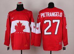 Team Canada 27 Alex PIETRANGELO 2014 Winter Olympics Jersey - Red