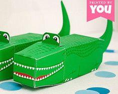Alligator Favor Box : DIY Printable Crocodile PDF // Peter Pan, Florida Gators and Reptile Birthday Boy Party Favors, Party Gifts, Party Box, Florida Gators, Alligator Party, Alligator Birthday, Crocodile Party, Planners, Reptile Party