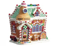 Lemax Christmas Villages Collectors Website - Jelly Bean Post Office - finally got it! Disney Christmas Village, Christmas Village Houses, Christmas Town, Christmas Mantels, Christmas Villages, Blue Christmas, Christmas Trees, Xmas, Shabby Chic Christmas