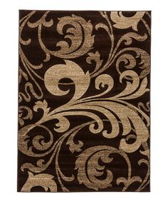 Look at this Brown Fleur-de-Lis Leslie Rug on #zulily today!
