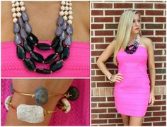 Hot pink bandage dresses are perfect for for a Friday night out!