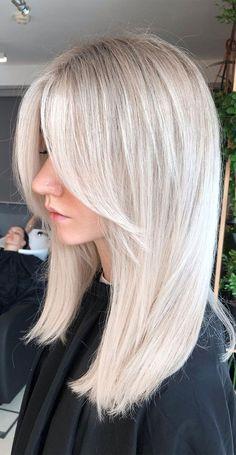 Blonde Hair With Fringe, Summer Blonde Hair, Bright Blonde Hair, Ash Blonde Hair, Hair Color For Black Hair, Blonde Straight Hair, Blonde Hair Highlights, Blonde Bangs, Haircuts Straight Hair