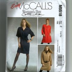 McCall's  Misses'/Misses' Petite Dresses and Belt  Pattern M5518 by NewAgain on Etsy