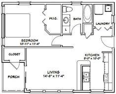 PDF house plans, garage plans, & shed plans. Cabin Floor Plans, Small House Floor Plans, Mobile Home Floor Plans, The Plan, How To Plan, 1 Bedroom House Plans, Studio Apartment Layout, Studio Apartment Floor Plans, Barndominium Floor Plans
