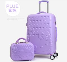 """TRAVEL TALE 20""""24""""28"""" inch Hello Kitty Luggage,Spinner wheel ABS Suitcase Trolley,Women and children Travel Case //Price: $101.20 & FREE Shipping // #hashtag3"""