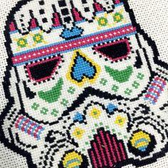stormtrooper sugar skull - decoração sem marca
