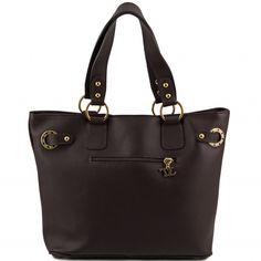 Italienische dunkelbraune leder Stadttasche.Das Äußere der Tasche ist der toskanische Art - so auf traditionelle Weise - gegerbtem Leder.Das Innere der Tasche hat ein Baumwollfutter. -