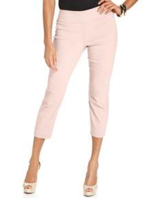 Alfani Tummy-Control Pull-On Capri Pants, Only at Macy's - Pink 10